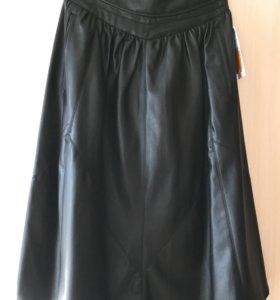 Кожаная юбка Zara Новая!!