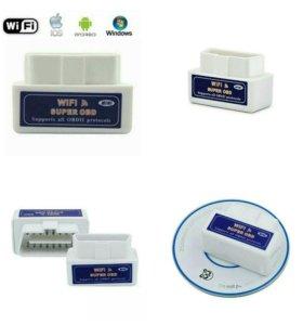 Диагностический автосканер ELM 327 WiFi V1.5 OBD2