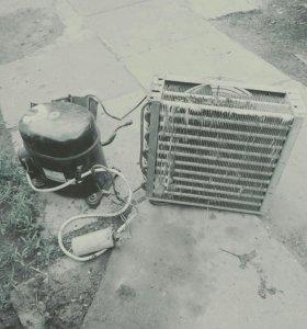 Радиатор охлаждение и мотор