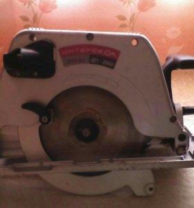 Пила ручная электрическая дисковая ДП2000вес 7'8кг