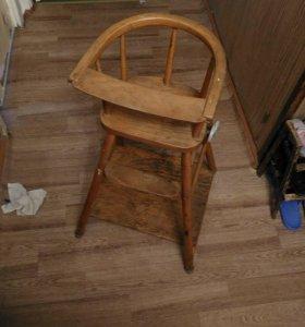 Детский стол-высокий стул, винтаж