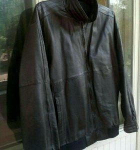 Куртка кожаная мужская р-р 60