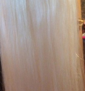 Натуральный волосы на заколках