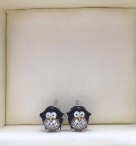 """Серьги """"Пингвины"""""""