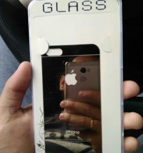Броне стекло iPhone 5s gold