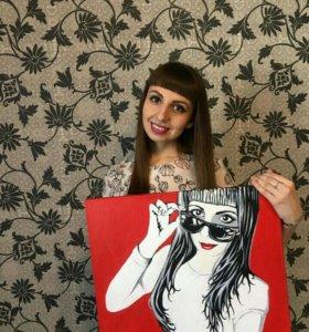 Портрет по фото в стиле поп-арт