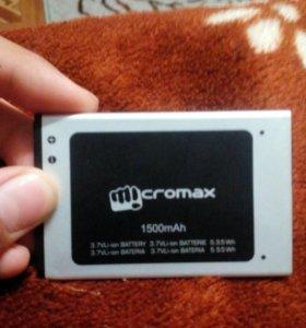 Аккумулятор для micromax A28,megafon Login 2