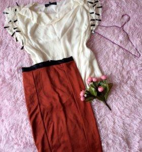 Блуза Л, юбка М
