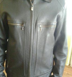 Кожаная куртка 50р.