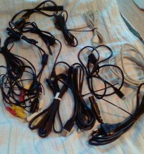 Подзарядки, наушники, кабеля
