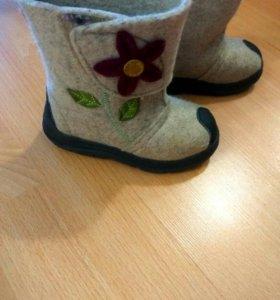 Валенки и ботинки на девочку