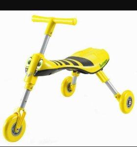 Беговел scooter желтый