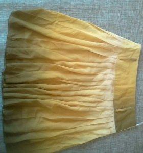 Продам юбку желтую