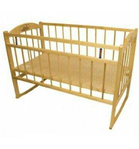 Кроватка детская с пружинным матрацом