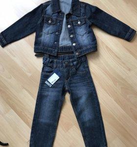 Новый джинсовый костюм, 98 рост