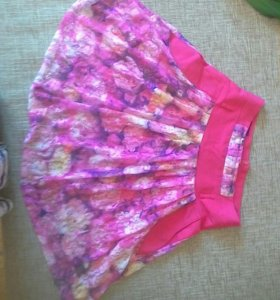 Продам летнюю нарядную розовую юбку