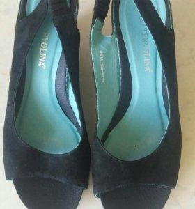 Босоножки,туфли терволина замша