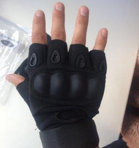 Перчатки с защитой без пальцев размер L