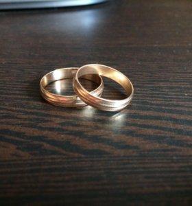 Кольца золотые, 585 пробы Sunlight.