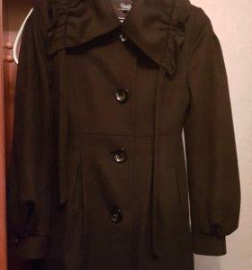 Кашемировое пальто р.40