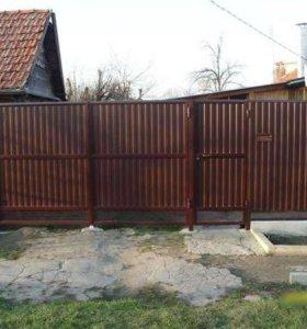 Заборы,хоз блоки,ворота,калитки