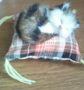 Котенок на подушечке