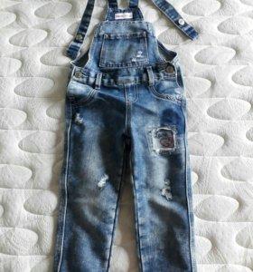 Комбенизон джинсовый на девочку