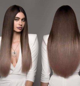Наращивание волос коррекция снятие