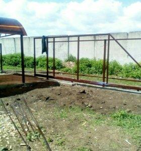 Изготовление и установка навесов, ворот, заборов