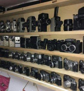 Коллекция фотоаппаратов и кинокамер ссср