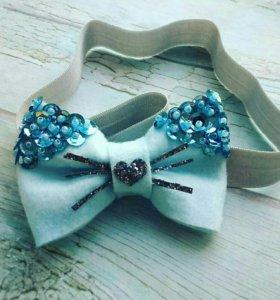 Бантики на голову и бабочка-галстук