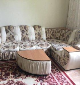 Угловой диван + Кресло + Столик