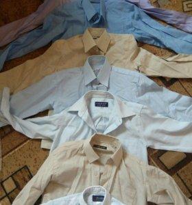 Рубашки на мальчика6-8лет