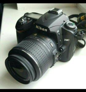 Зеркальный Nikon D90 18-55vr  kit🔥🔥🔥