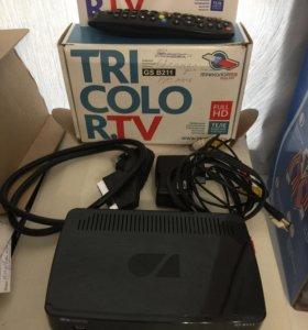 Триколор тв full HD, приставка gs b211