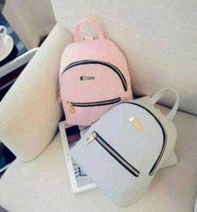 Рюкзак новые розовый черный серый