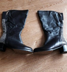 Сапоги кожаные женские