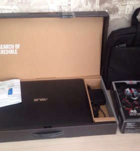 Новый ноутбук Asus, мышка bloody r8 и сумка dexp