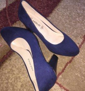 Туфли Molo синего цвета (замшевые)