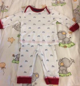 Костюмчики-пижамки mothercare 2 шт 62 см