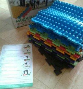 Набор из 10 модульных ковриков