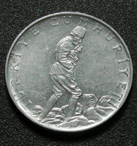 Турция монета 2 1/2 лиры 1977 год
