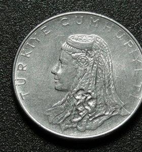Турция монета 50 куруш 1976 год