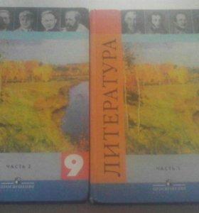 Учебник по литературе 2 части за 9 класс.