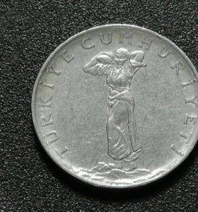 Турция монета 25 куруш 1968 год