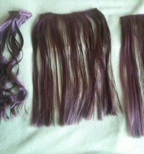 Волосы набор Пряди на заколках