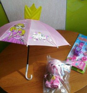 НОВЫЕ игрушки и зонт для девочки