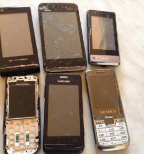 Набор телефонов сломанных