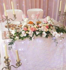 Оформление свадьбы,букет невесты