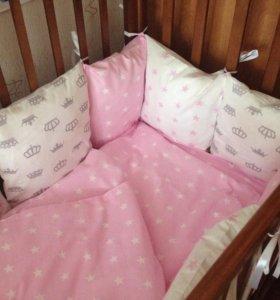 Комплект в детскую кроватку (на заказ)